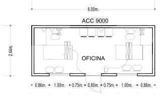 Oficina planta libre 20 for Dimensiones de escritorios de oficina
